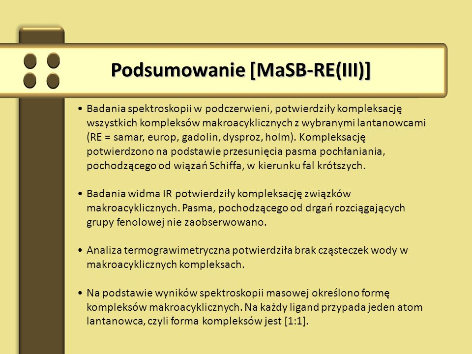 Podsumowanie [MaSB-RE(III)]